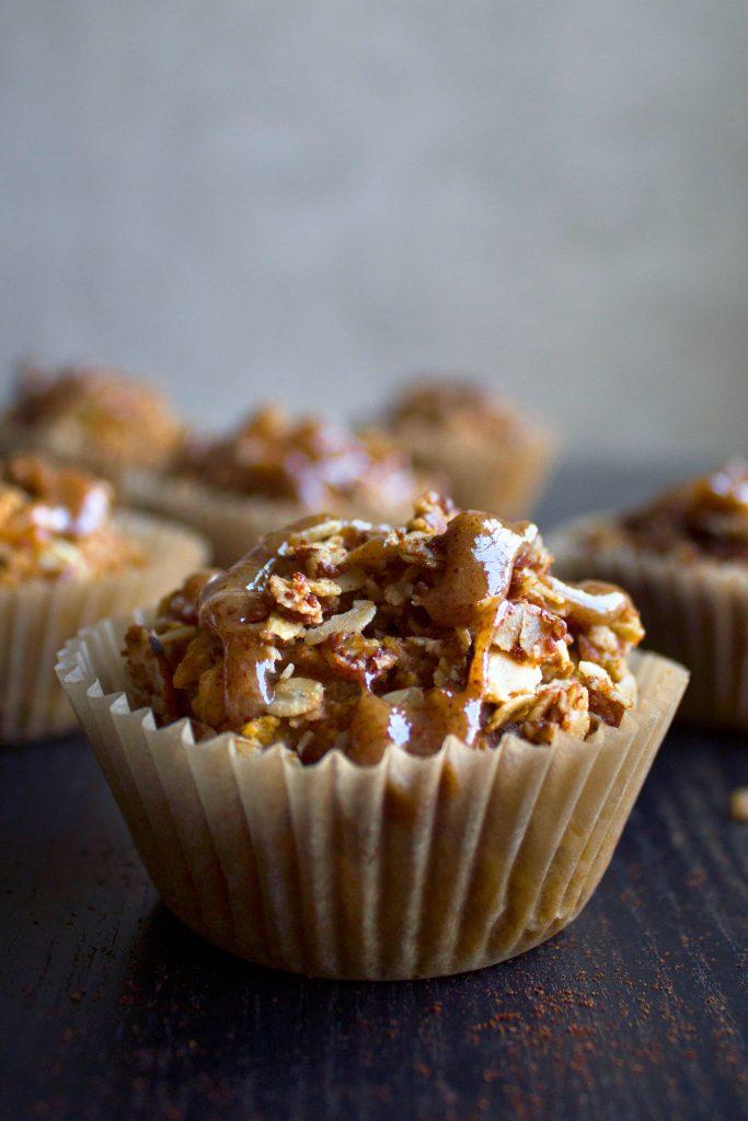 Vegan Glazed Pumpkin Crumb Muffins (gf & df) | Wife Mama Foodie