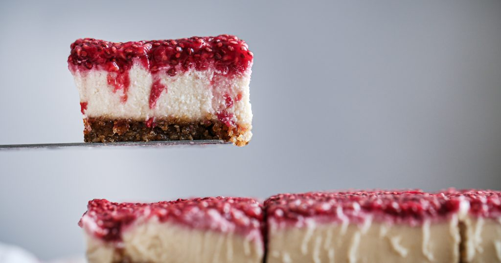 Vegan Lemon Raspberry No-Bake Bars