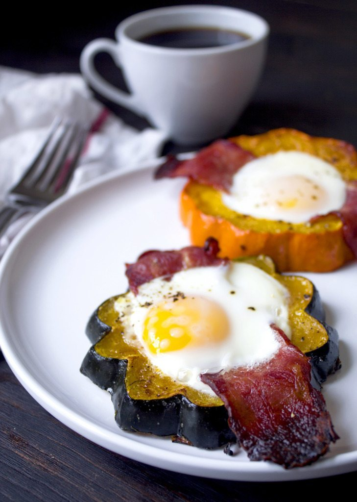 Fall Squash Breakfast Cups With Coffee