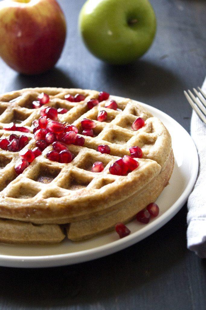 Apple-Cinnamon Waffles | gluten, dairy, and refined sugar free!