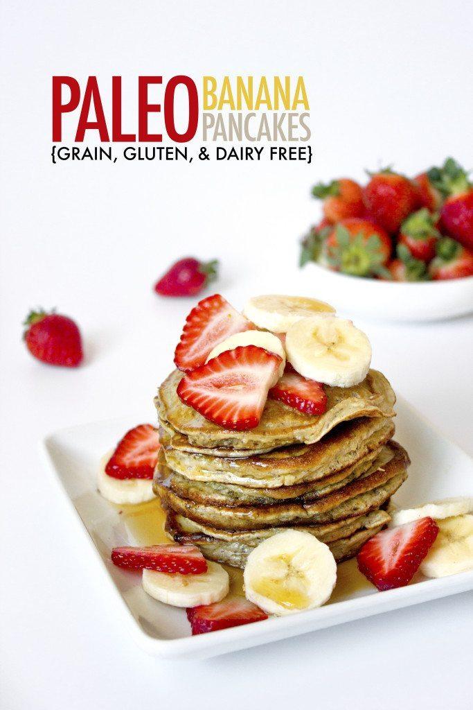 Paleo Banana Pancakes | Grain, Gluten, Dairy, and Refined Sugar Free!