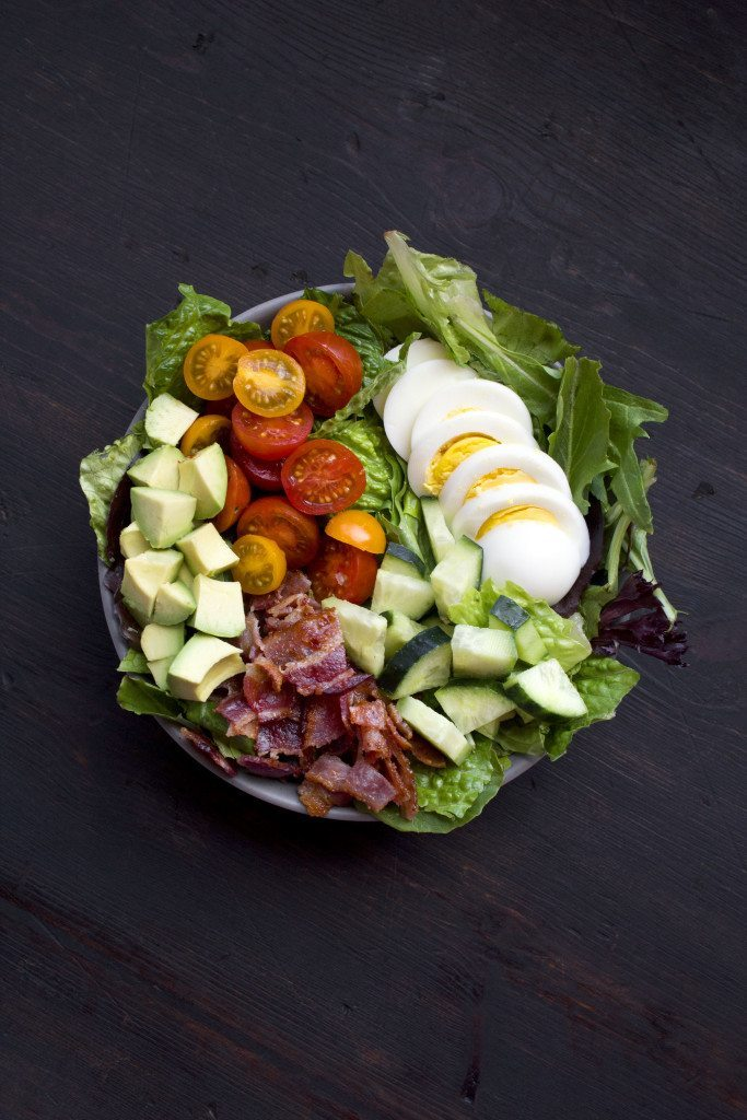 Bacon-Avocado Salad With Homemade Ranch Dressing | Dairy-free, gluten-free, and paleo friendly!