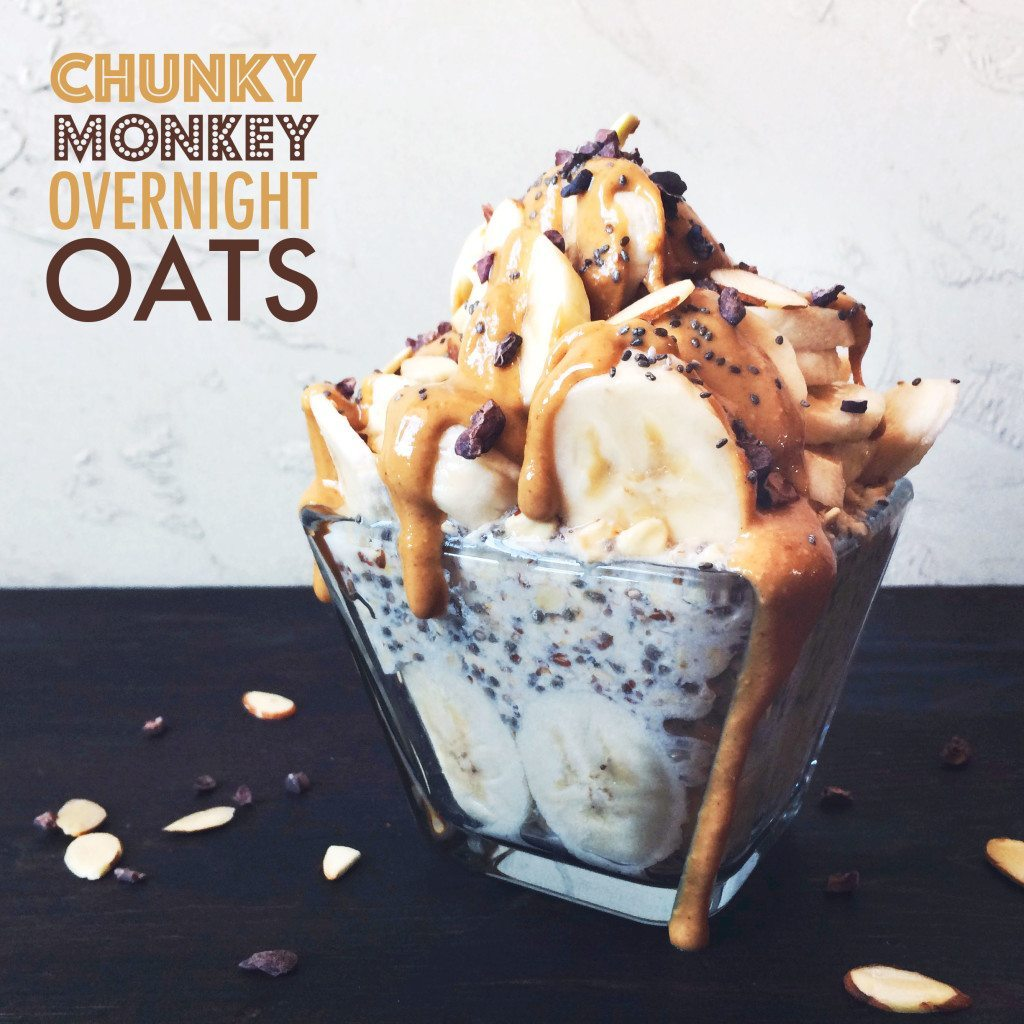 Chunky Monkey Overnight Oats | An easy, delicious, and healthy breakfast!