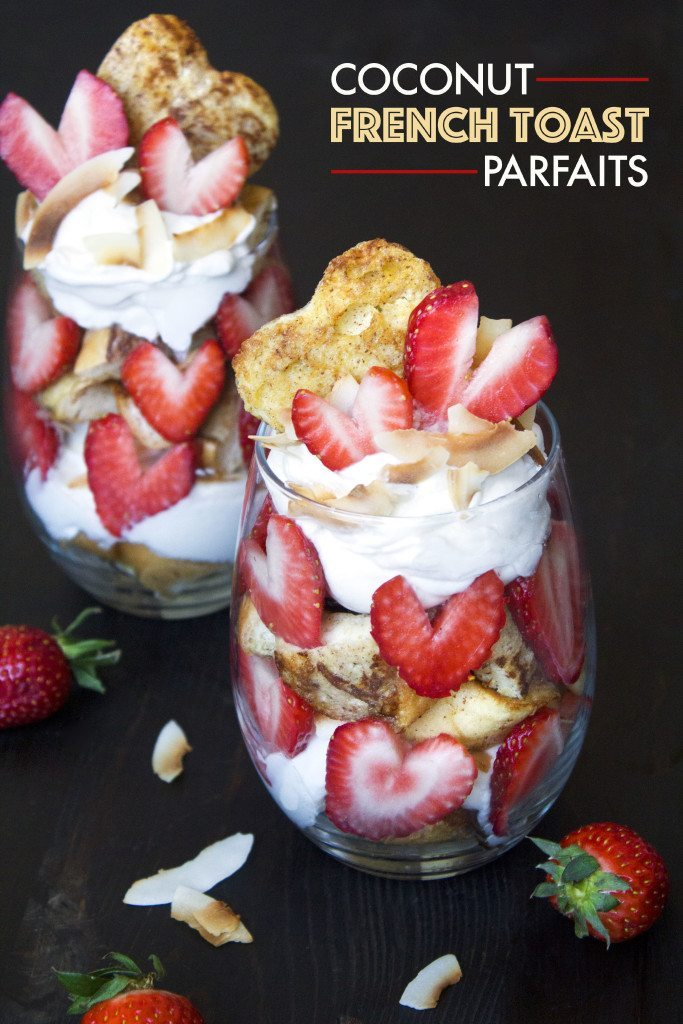 Coconut French Toast Parfaits | Healthy, delicious, and dairy free! Can be adapted to be gluten-free as well.