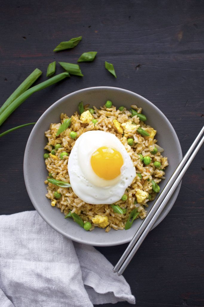 Breakfast Fried Rice | A delicious gluten-free breakfast dish! Any protein of your choice can be added as well!