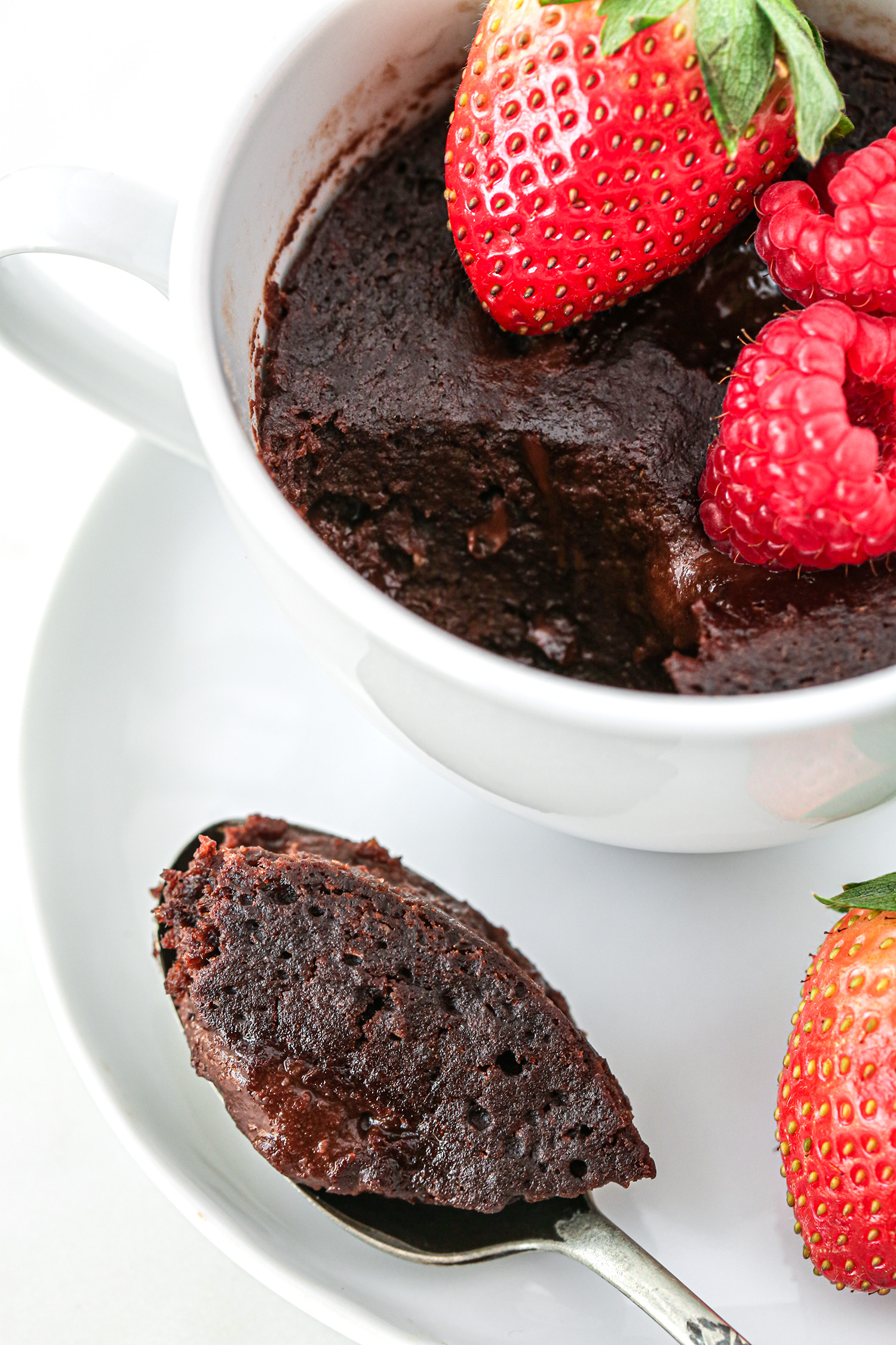Chocolate Lava Mug Cake Bite | Vegan and Refined Sugar Free with Gluten Free Option