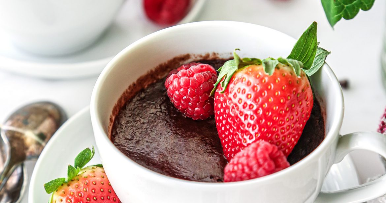 Chocolate Lava Mug Cake Wife Mama Foodie