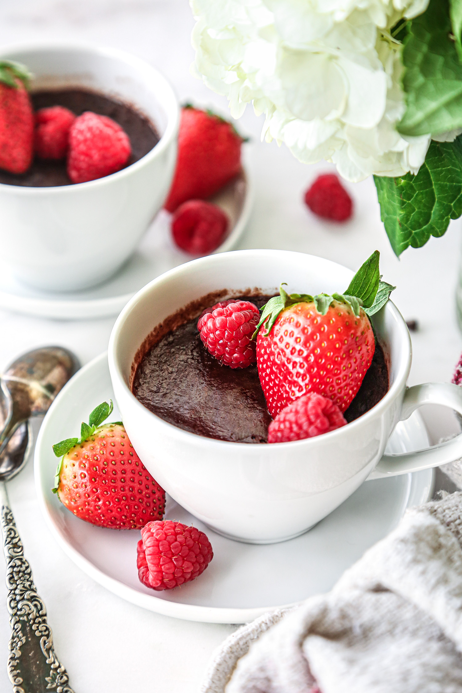 Chocolate Lava Mug Cake | Vegan and Refined Sugar Free with Gluten Free Option