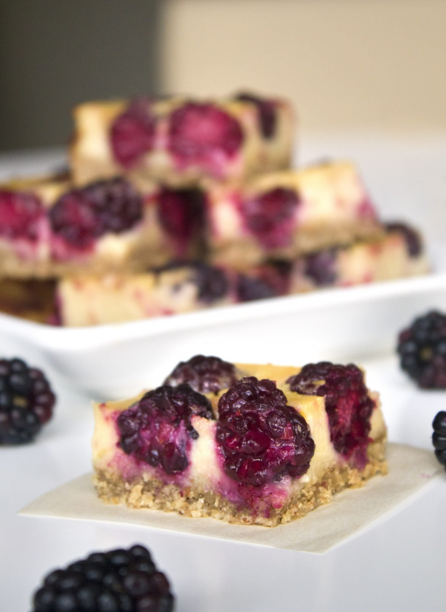 Healthier Lemon Blackberry Bars | Wife Mama Foodie