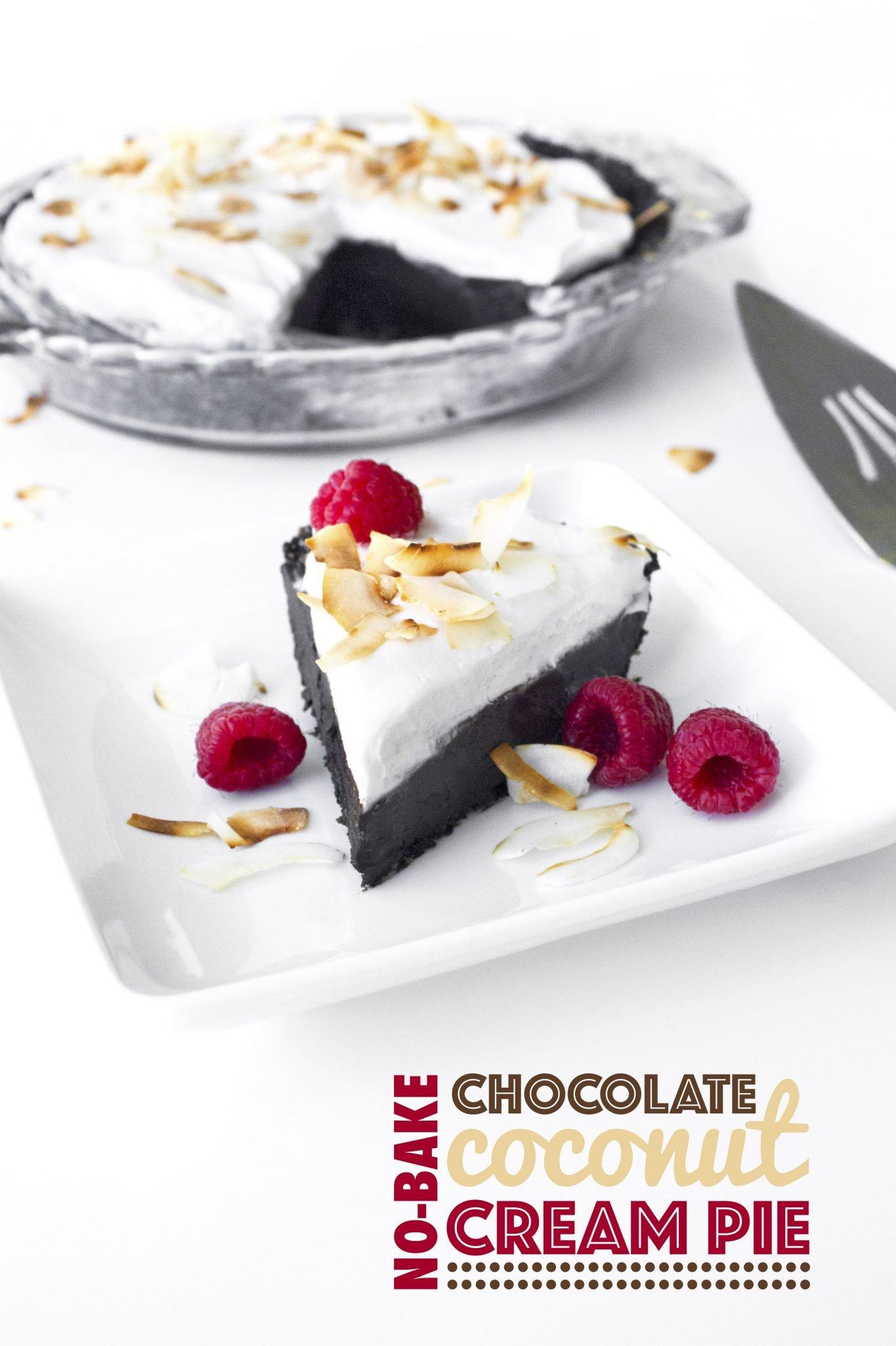 Chocolate Coconut Cream Pie - Wifemamafoodie