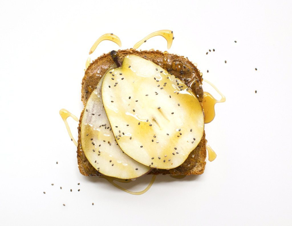 Ten Tasty Toast Ideas | Almond Butter, Pear, Honey, & Chia