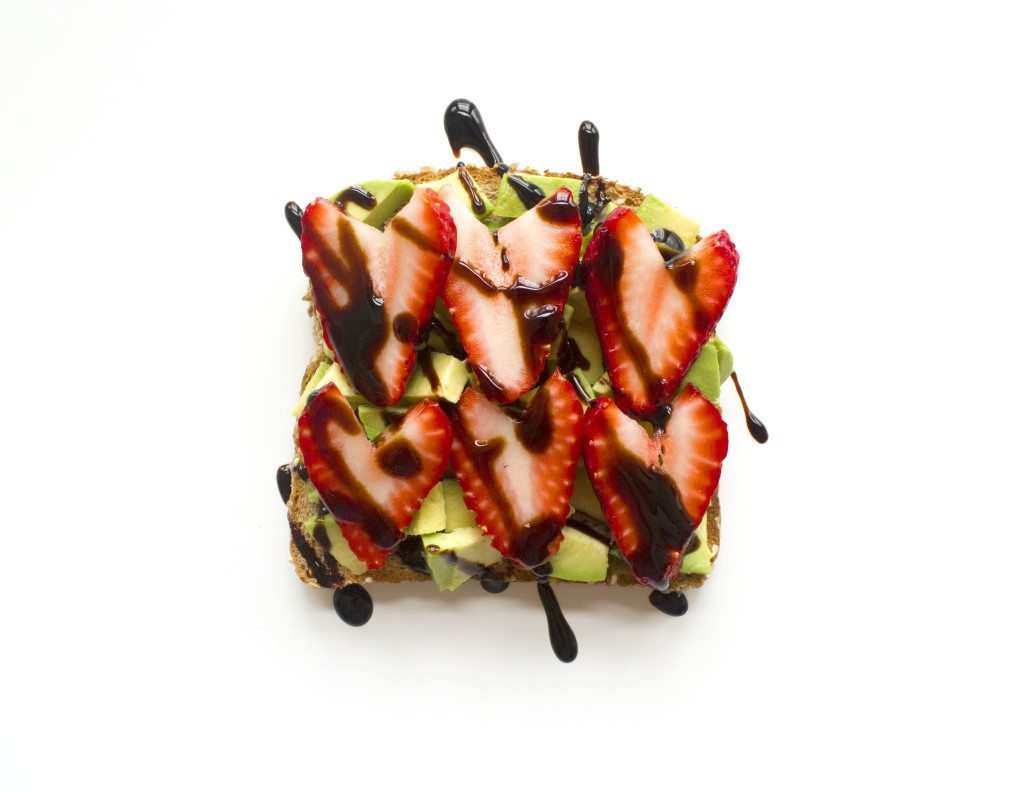 Ten Tasty Toast Ideas | Avocado, Strawberries, & Balsamic Glaze