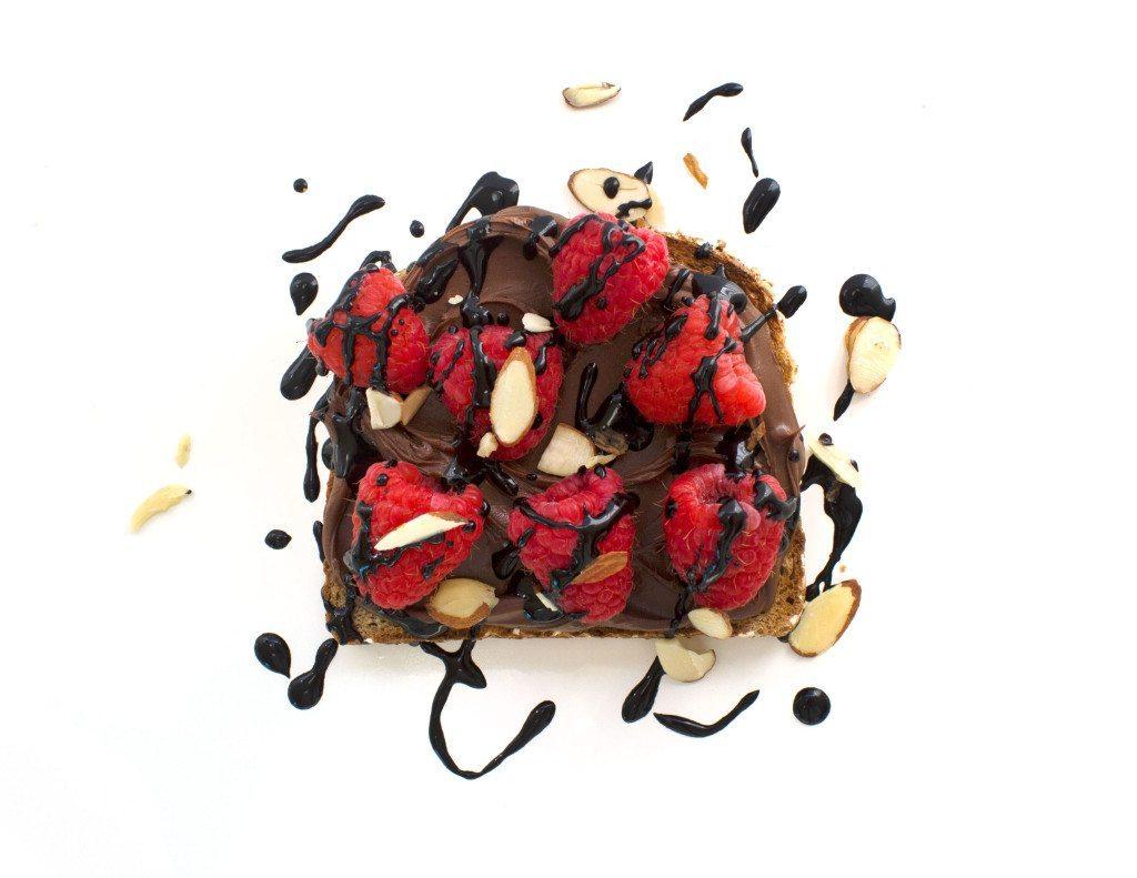 Ten Tasty Toast Ideas | Nutella & Raspberry