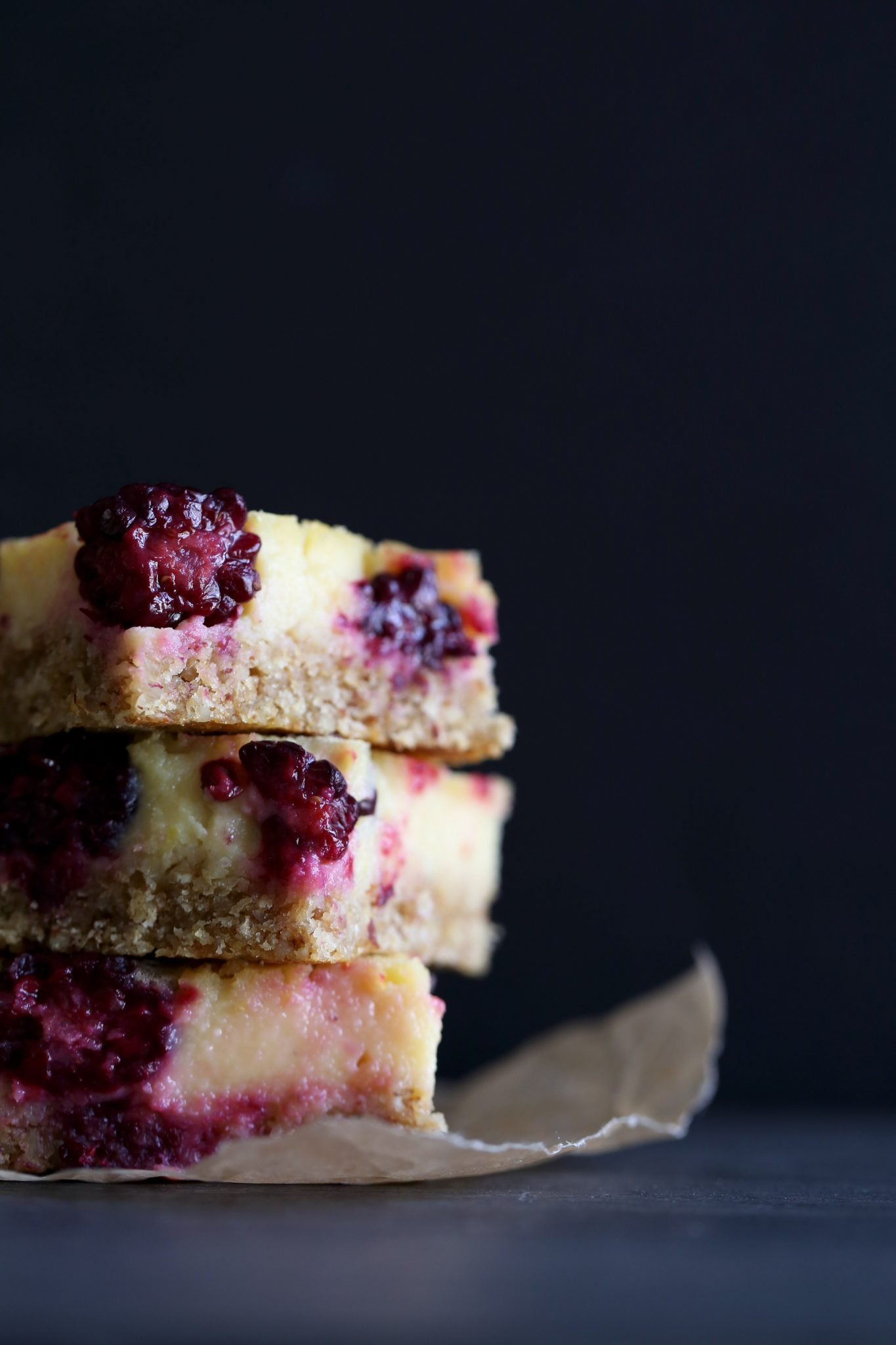 Healthier Lemon-Blackberry Bars | Gluten, Dairy, and Refined Sugar Free!