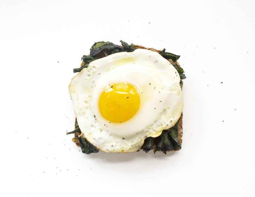 Ten Tasty Toast Ideas | Kale Sauté & Fried Egg