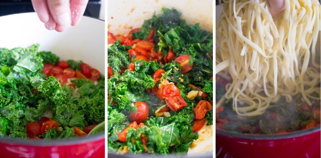 Spicy Tomato & Kale Pasta | A healthy and delicious dinner in less than 30 minutes!