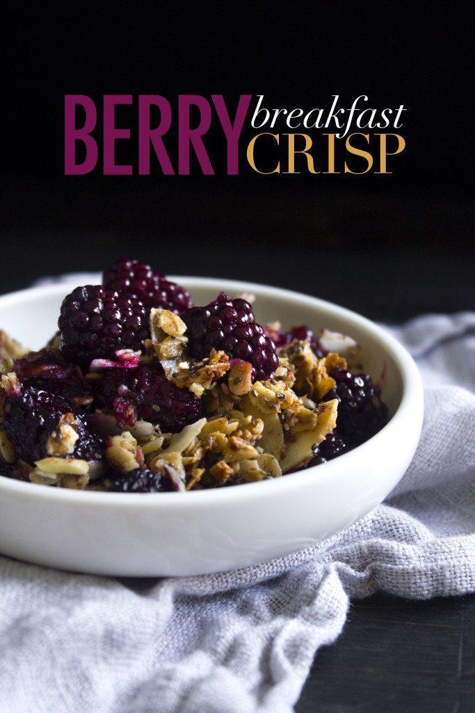 Berry Breakfast Crisp | Gluten, dairy, refined sugar free, & vegan friendly