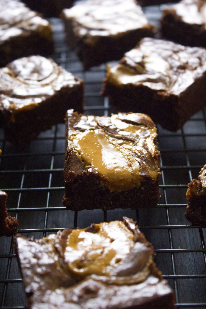 Flourless Peanut Butter Brownies | Gluten and dairy free