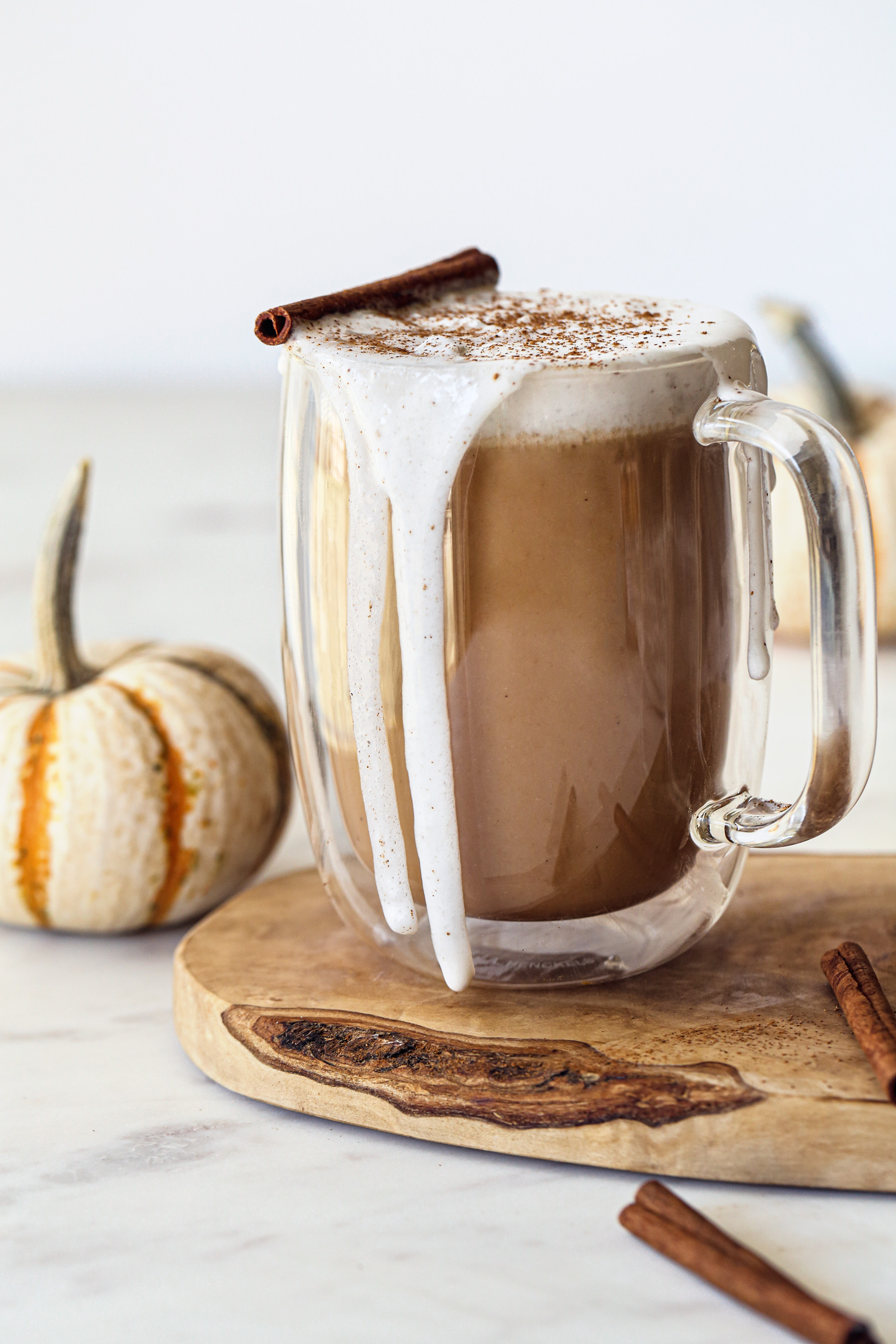 Vegan Pumpkin Spice Latte | Dairy and Refined Sugar Free