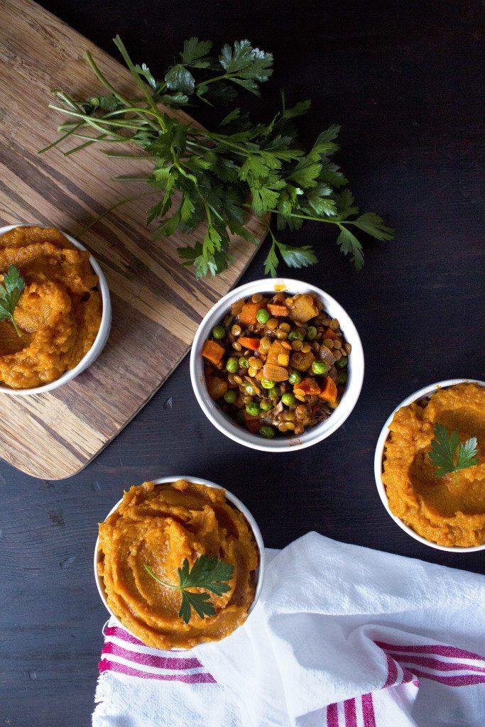 Autumn Veggie Shepherd's Pie | Gluten and dairy; vegetarian and vegan friendly.