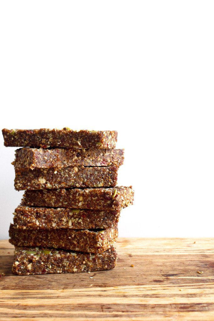 Fig and nut bars in pan