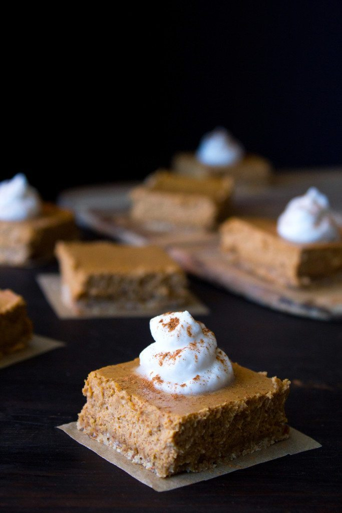 Pumpkin Cheesecake Bars On Board