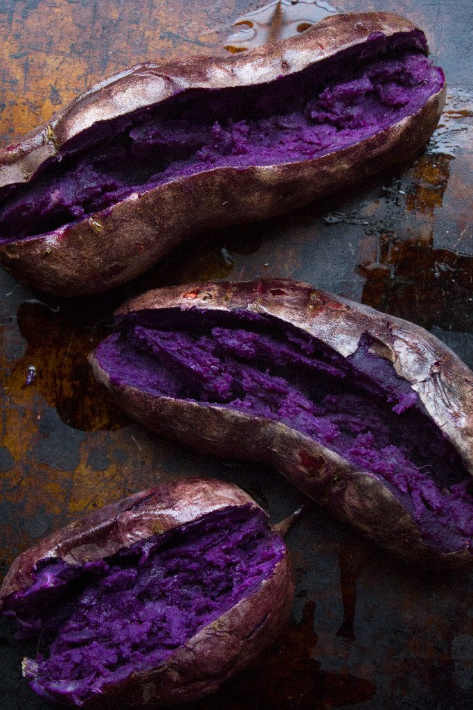 Thai Veggie Stuffed Sweet Potatoes With Spicy Peanut Sauce