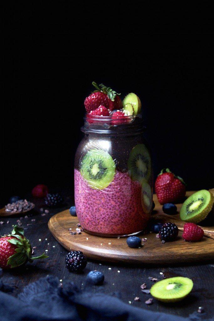 Chocolate & Raspberry Chia Pudding Parfaits | Grain, Gluten, Dairy, & Refined Sugar Free