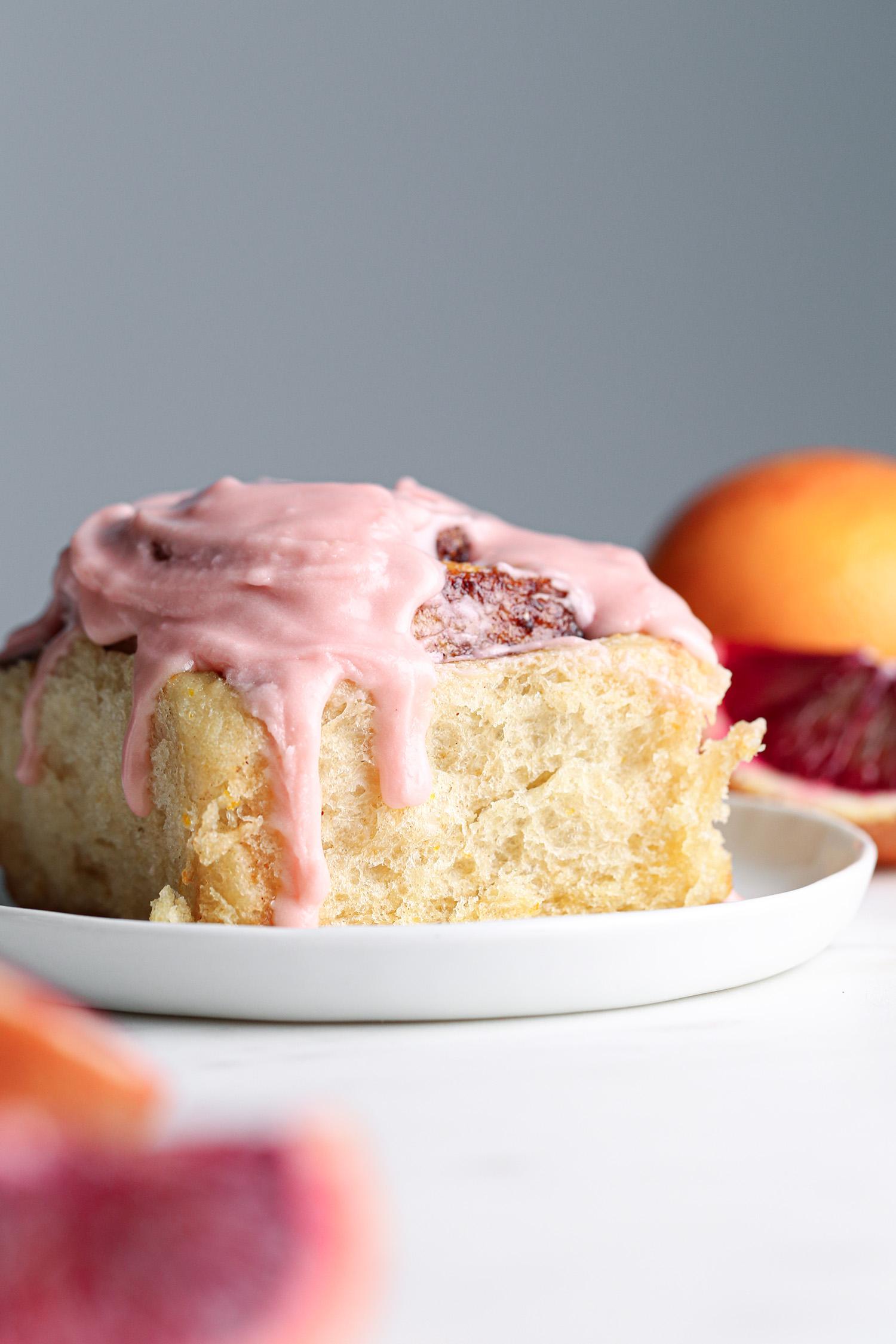 Blood Orange Sweet Rolls | Vegan friendly with refined sugar free option
