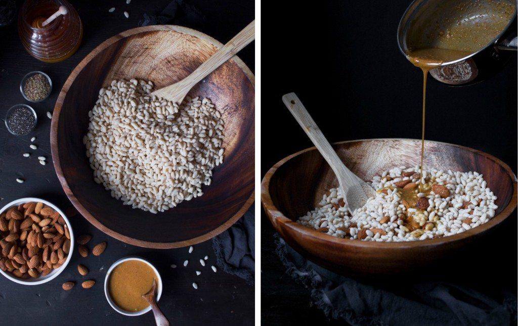 Crunchy Honey Peanut Butter & Dark Chocolate Bars | Gluten and Dairy Free