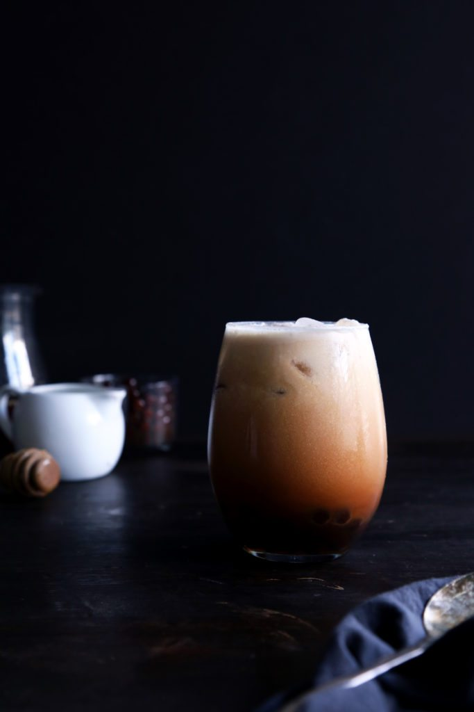 Homemade Coconut Thai Tea | Bubble tea variation included. Vegan, dairy and refined sugar free