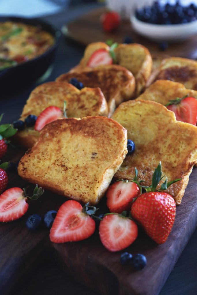 Classic French Toast | Dairy and refined sugar free. Can be adapted to be gluten free.