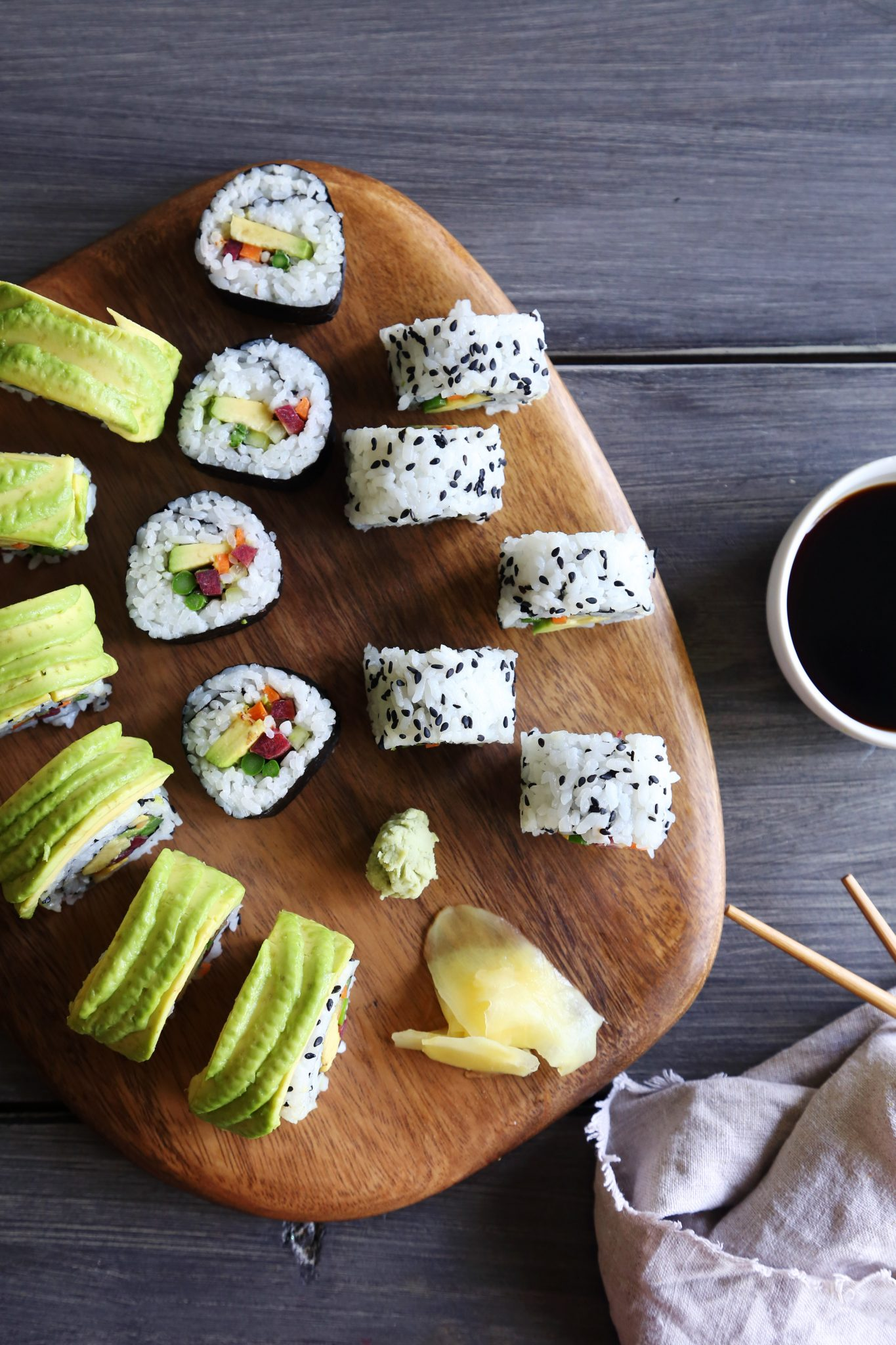 Homemade Veggie Sushi & 3 Different Ways to Roll | Vegan, vegetarian, & gluten-free!