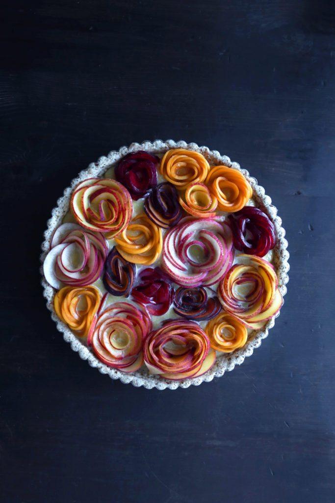 Fruit flower tart prebake
