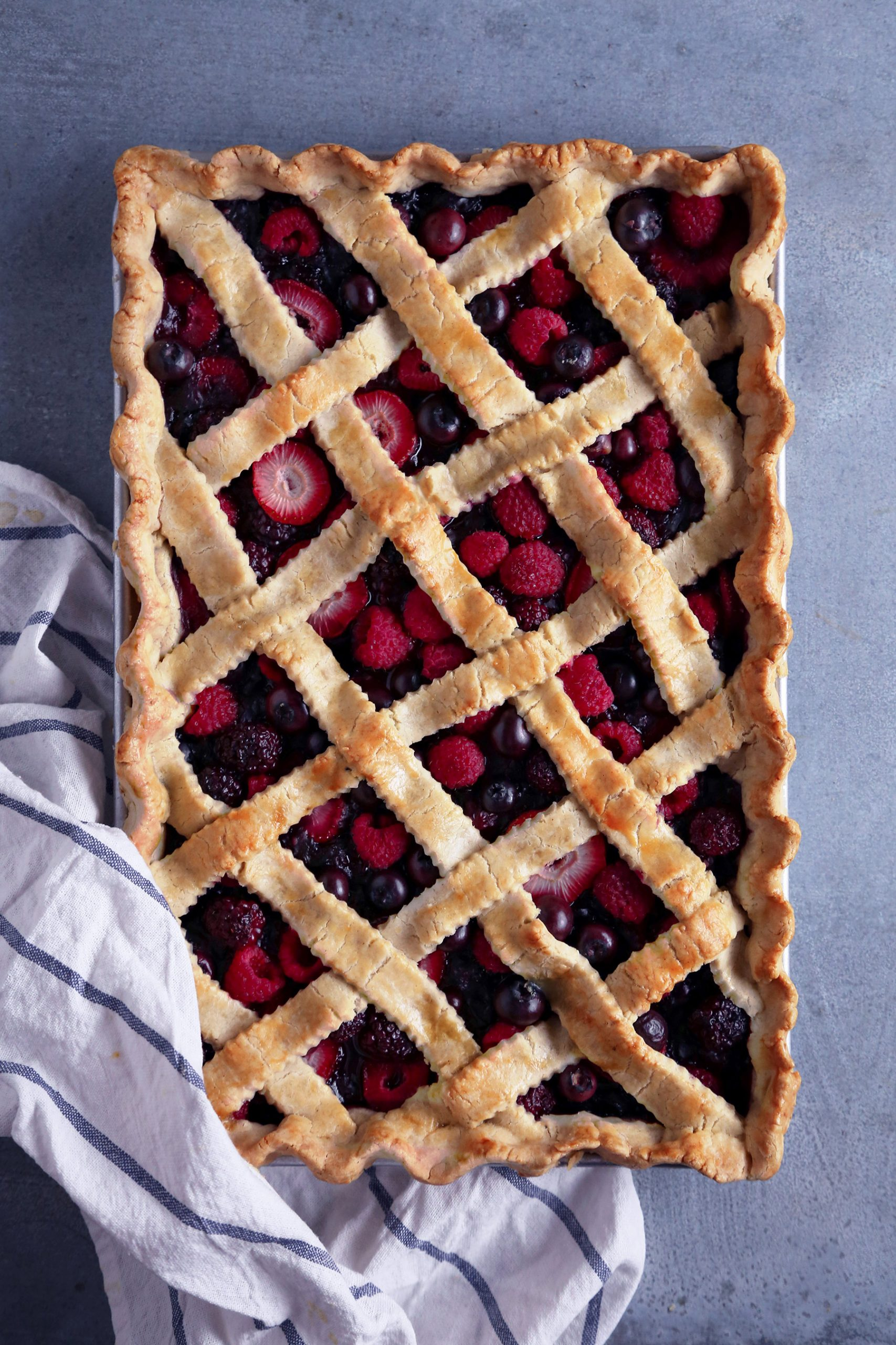 Mixed Berry Slab Pie | Vegan friendly and Refined Sugar Free with Gluten Option