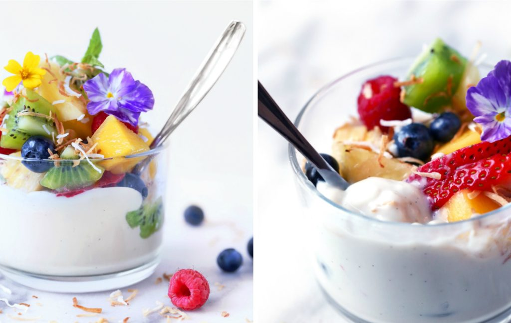 Haupia {Coconut} Pudding with Fresh Fruit | Vegan and paleo. Free of dairy, gluten, and grains.