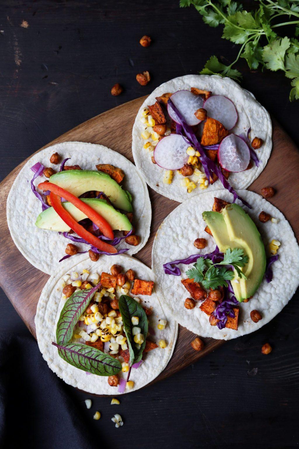 Roasted Chickpea & Sweet Potato Tacos   Gluten-free, dairy free, vegetarian, vegan