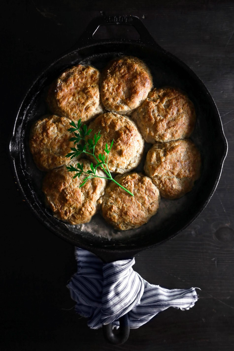 Biscuits and Gravy Breakfast Skillet | Vegan and vegetarian friendly. Gluten-free option included.