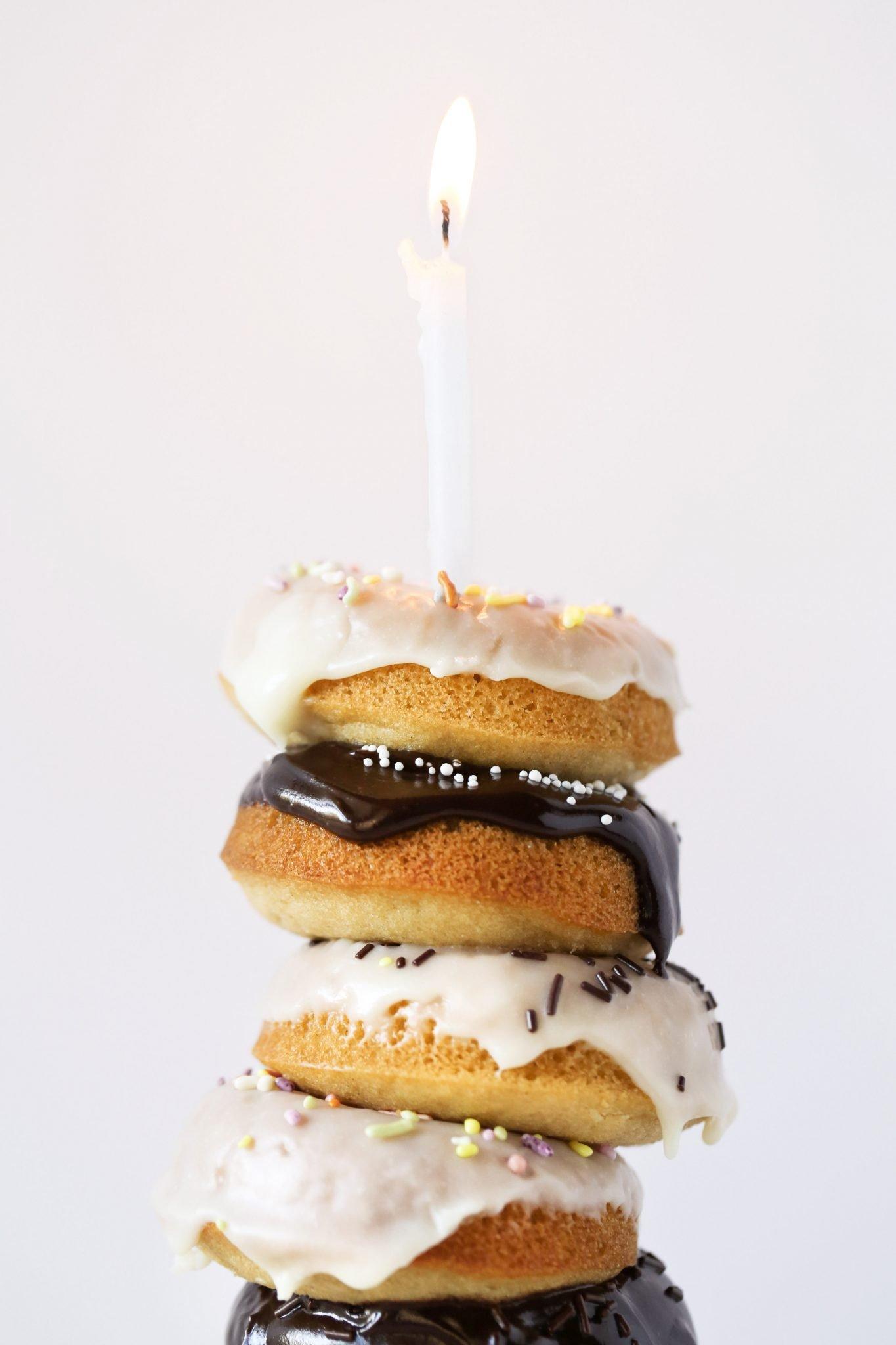 Gluten-Free Birthday Cake Doughnuts | Wife Mama Foodie