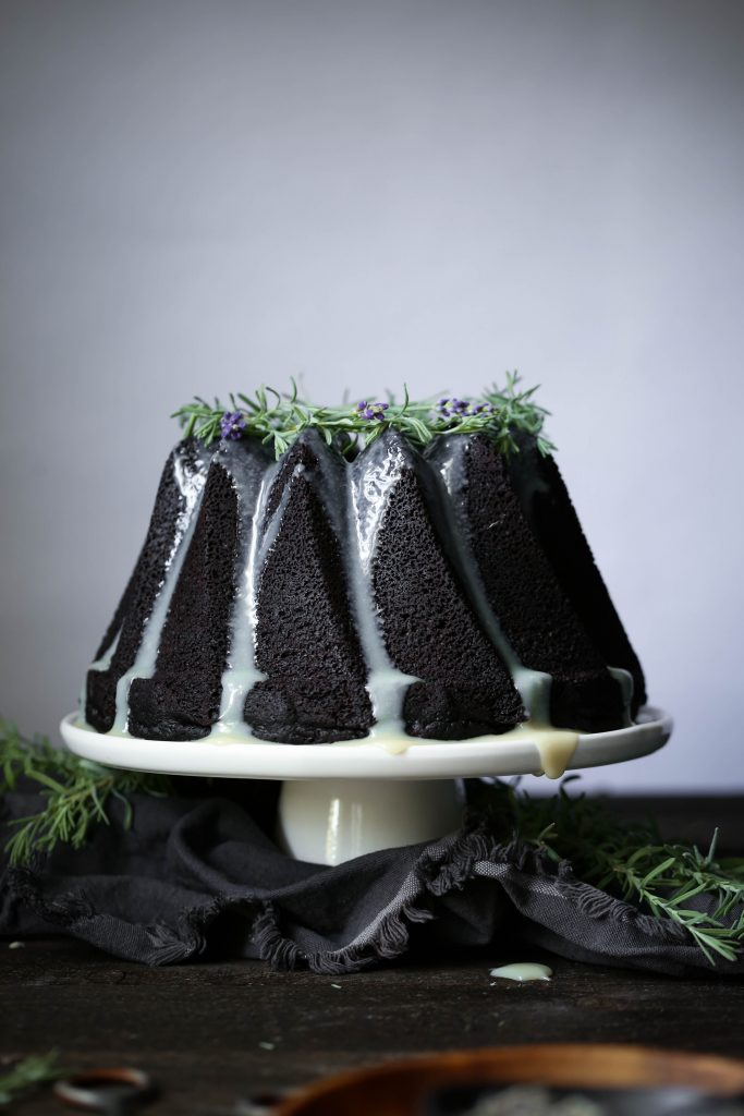 Chocolate Earl Grey Cake with Lavender Ganache | Gluten and dairy free