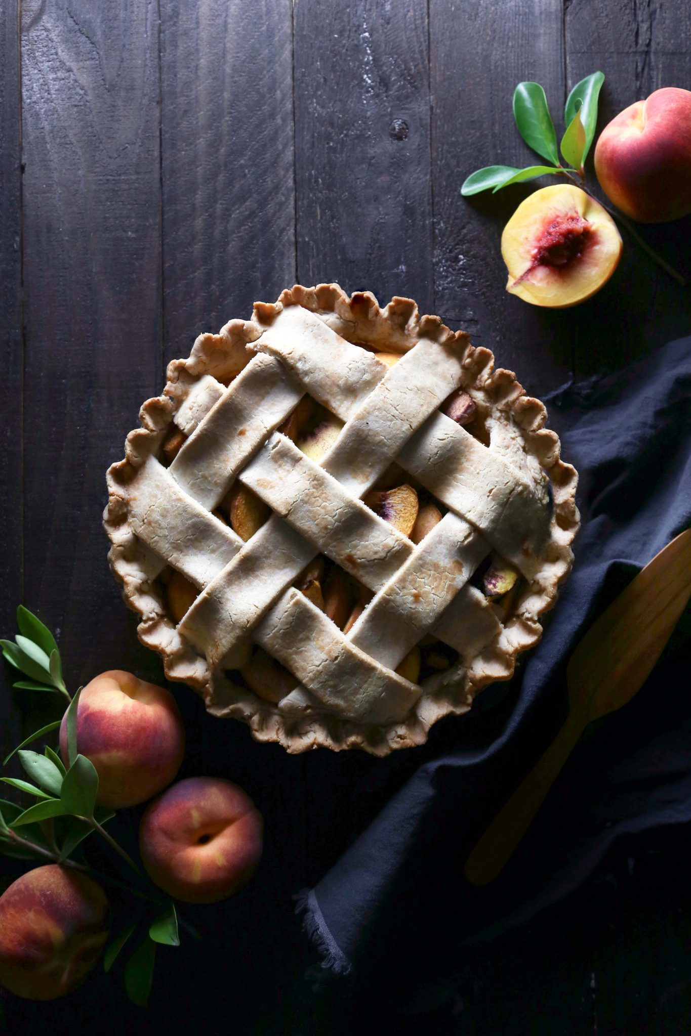 Peach Pie | Gluten, Dairy, and Refined Sugar Free