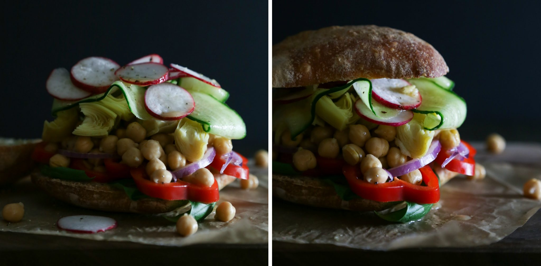 French Tuna or Chickpea Salad Sandwich (Pan Bagnat)