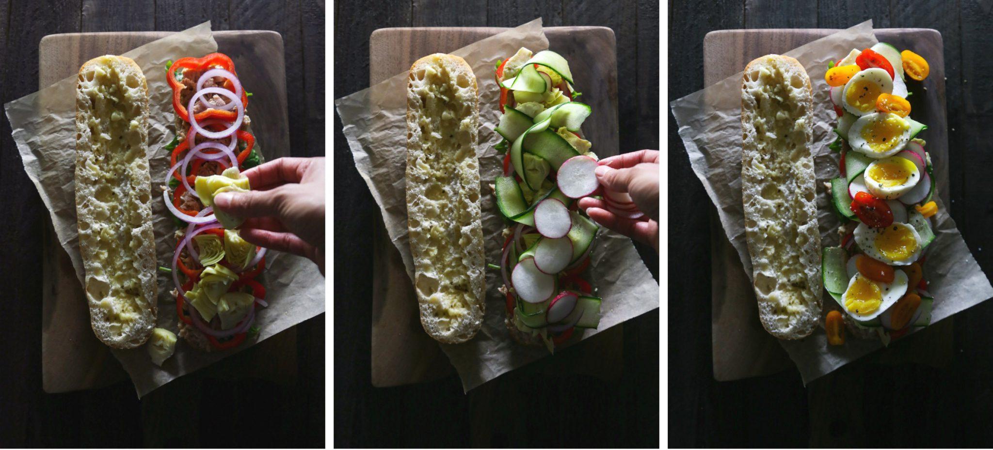 French Tuna or Chickpea Salad Sandwich (Pan Bagnat)