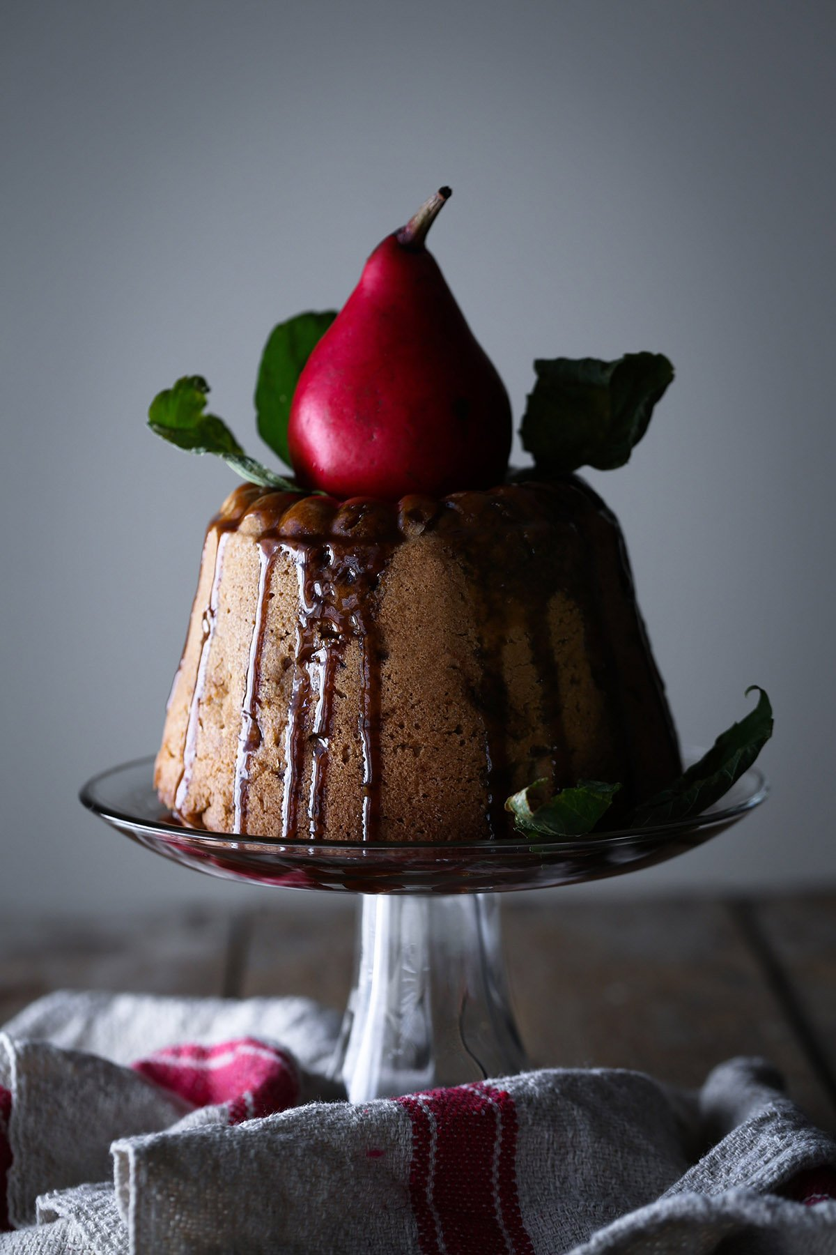 Pear and Almond Bundt Cake | Gluten and refined sugar free.