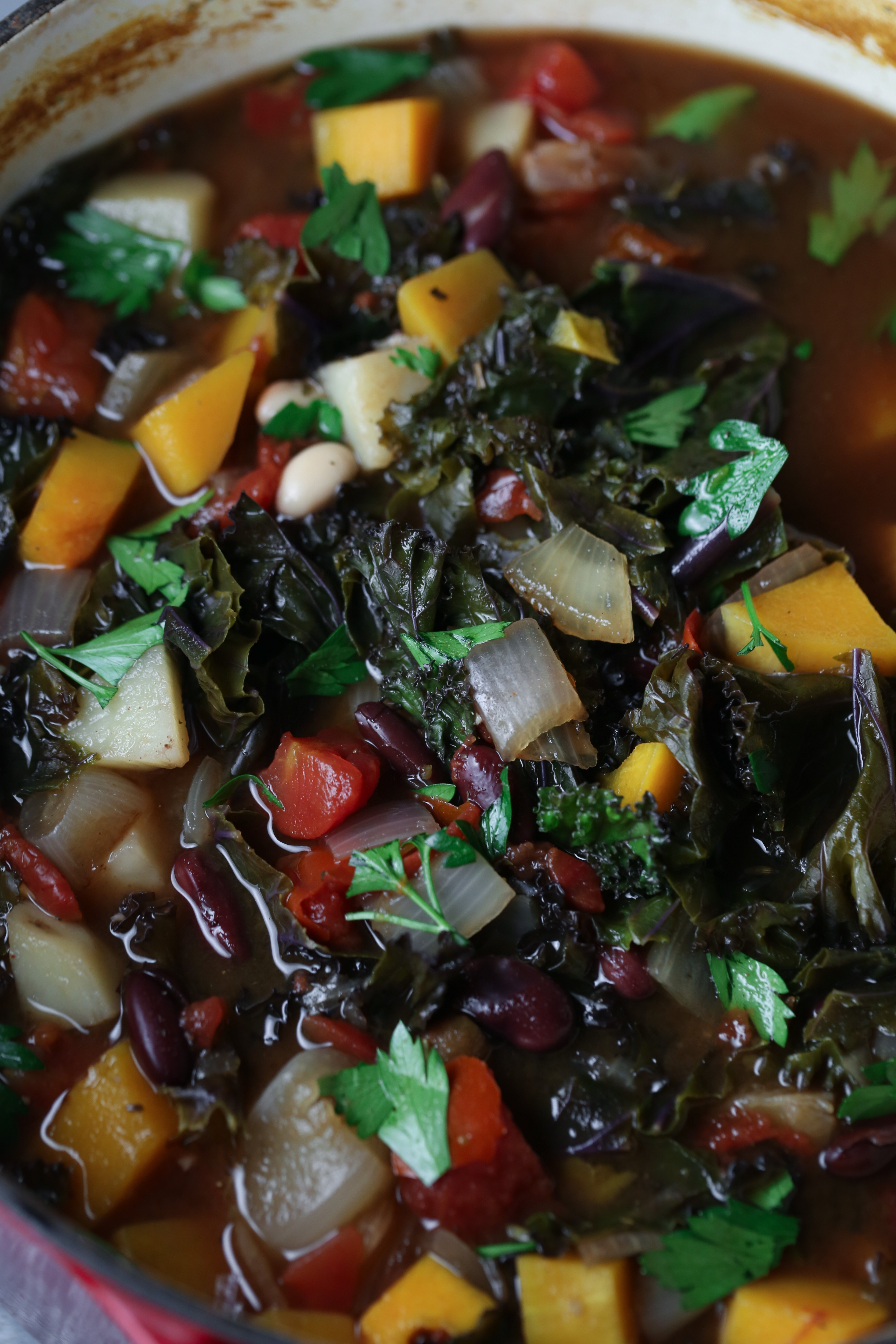 Autumn Vegetable Soup | Veggie-rich and free of gluten, grains, and dairy.