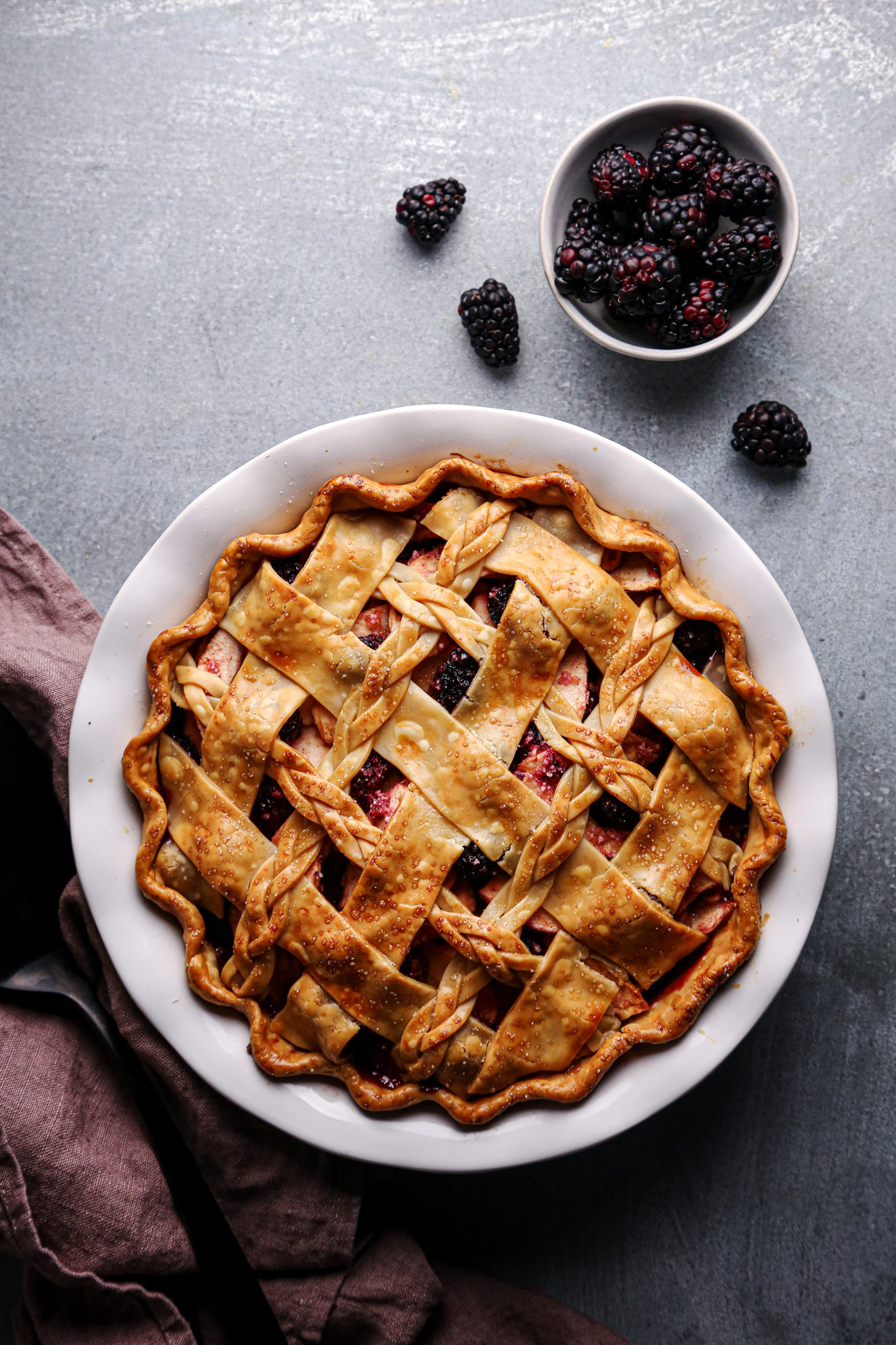 Apple Blackberry Pie | Vegan and Refined Sugar Free with Gluten Free Option
