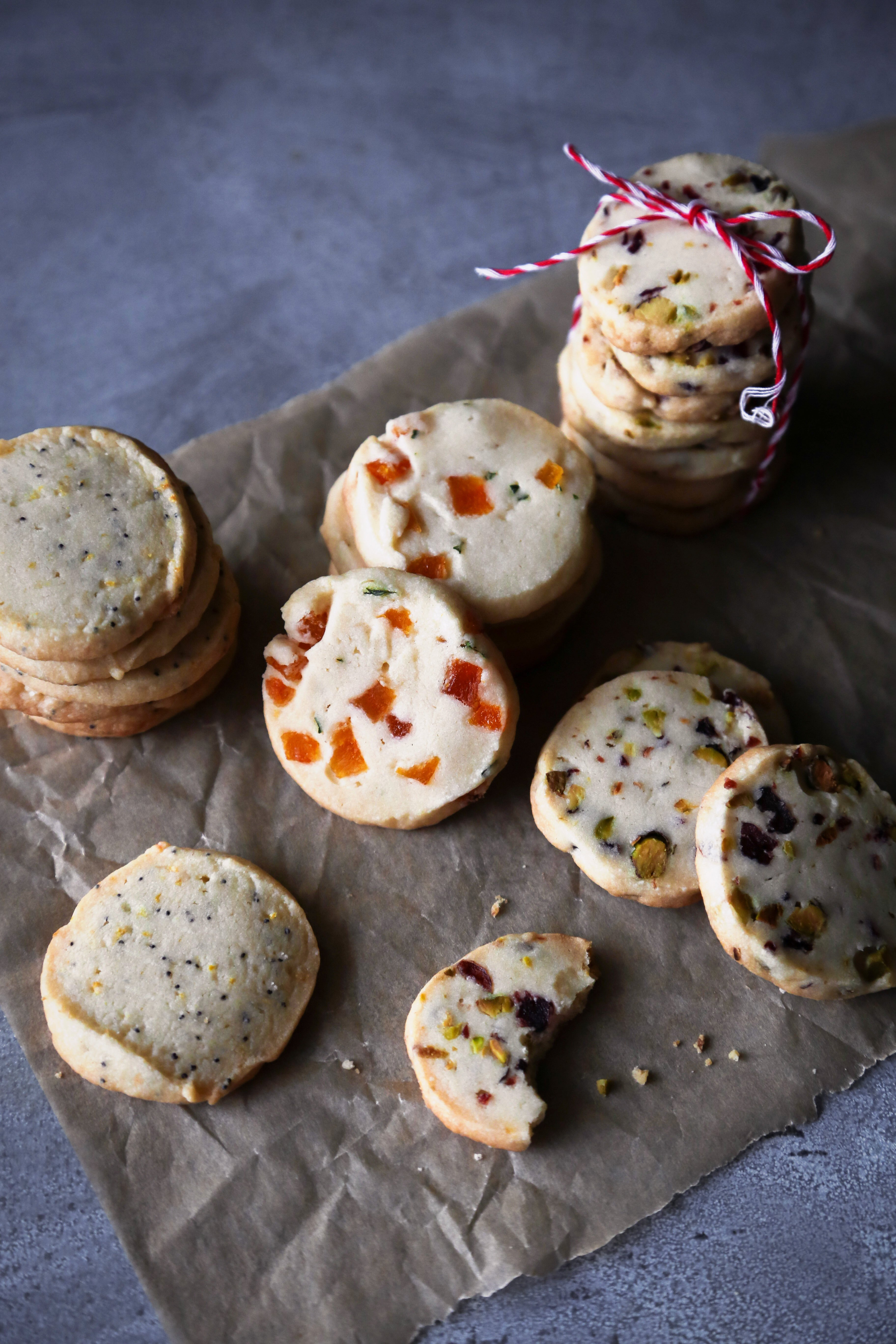 Gluten-Free Icebox Cookies | Refined Sugar Free Shortbread with a Variety of Mix-Ins.