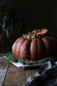Baked Pumpkin Filled with Sourdough Stuffing