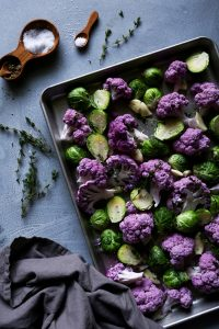 Roasted Cauliflower & Brussels Sprouts