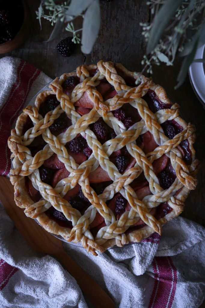 Apple-Berry Pie with Braided Lattice Crust | Refined Sugar Free. Dairy + Gluten Alternatives Included.